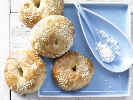 Aprikosen-Bagels