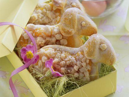 Rezept: Aprikosen-Osterlämmer