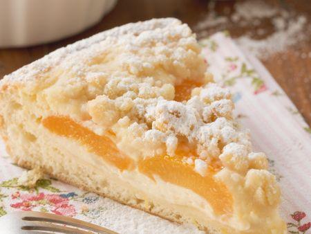 Aprikosen-Quark-Kuchen mit Streuseln