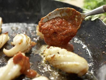 Arabische Calamari-Pfanne: Zubereitungsschritt 14