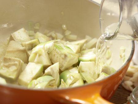 Artischocken-Cremesuppe: Zubereitungsschritt 6