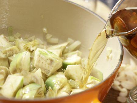 Artischocken-Cremesuppe: Zubereitungsschritt 7
