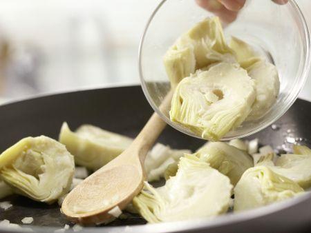 Artischocken-Tortilla: Zubereitungsschritt 5