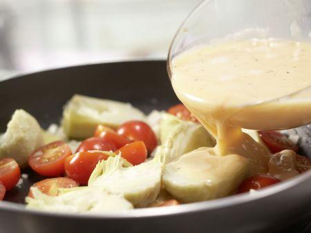 Artischocken-Tortilla: Zubereitungsschritt 6