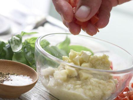 Artischockencreme auf Maiswaffeln: Zubereitungsschritt 4