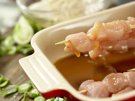 Asiatische Hähnchenspieße: Zubereitungsschritt 10