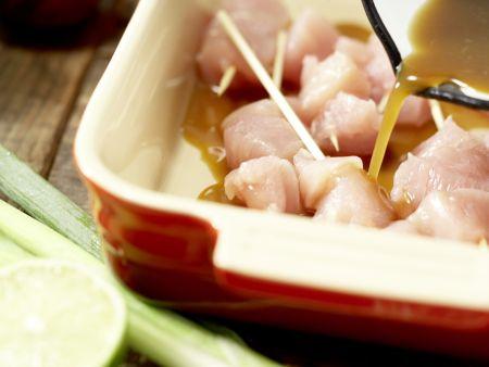 Asiatische Hähnchenspieße: Zubereitungsschritt 3
