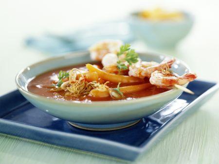 asiatische tomatensuppe mit garnelen sat rezept eat smarter. Black Bedroom Furniture Sets. Home Design Ideas