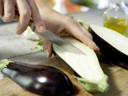 Auberginen-Bruschetta: Zubereitungsschritt 2