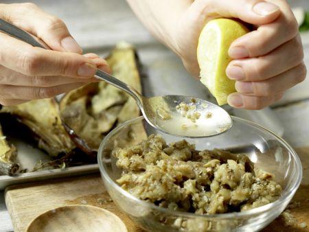 Auberginen-Bruschetta: Zubereitungsschritt 6