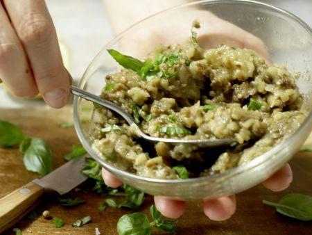 Auberginen-Bruschetta: Zubereitungsschritt 7