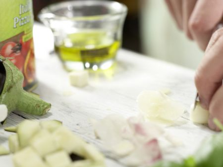 Auberginen-Spaghetti: Zubereitungsschritt 2