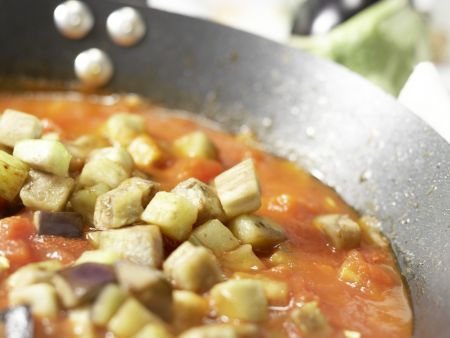 Auberginen-Spaghetti: Zubereitungsschritt 5