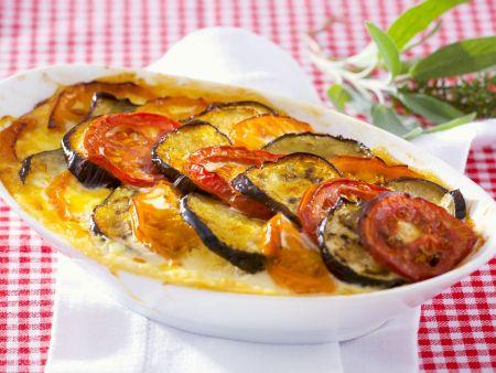 Auberginen-Tomaten-Gratin