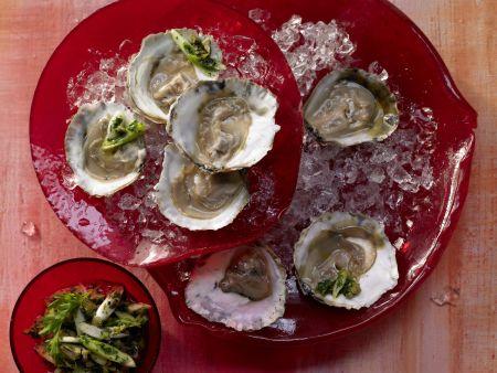 Austern mit Petersilien-Salsa-Verde – smarter