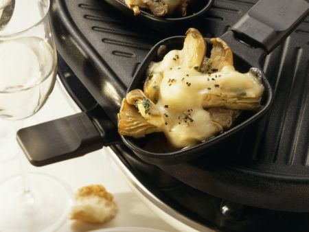 Austernpilzkappen mit Knoblauch
