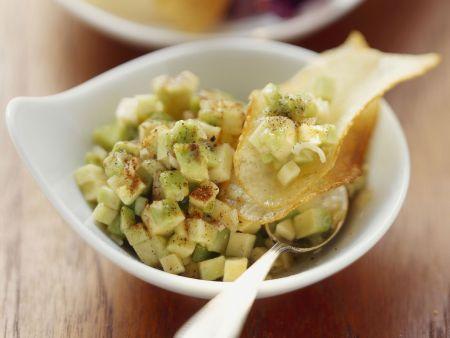 Avocado-Knoblauch-Salsa mit Zimt und Vanille