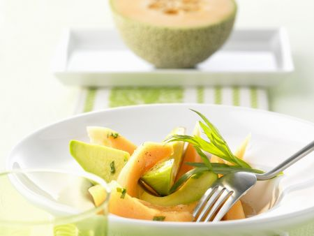 Avocado-Melonen-Salat
