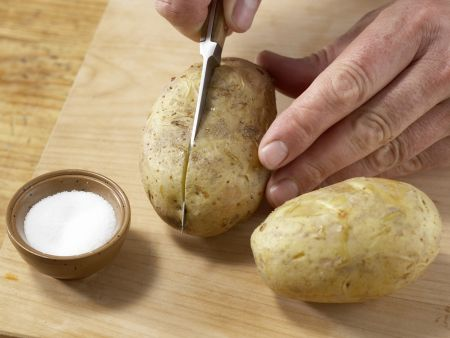 Backkartoffel mit Mangoldgemüse: Zubereitungsschritt 7