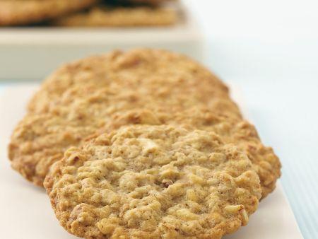 Bananen-Cookies mit Nüssen und Haferflocken