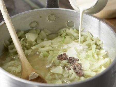 Bandnudeln mit Fenchel-Kapern-Sauce: Zubereitungsschritt 5