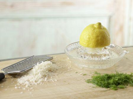 Bandnudeln mit Fenchel-Kapern-Sauce: Zubereitungsschritt 6