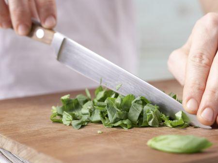 Basilikum-Kalbsklößchen: Zubereitungsschritt 4