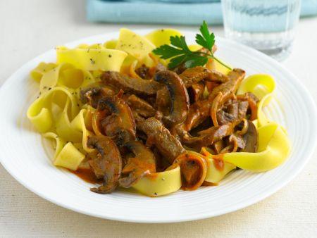 Beef Stroganoff mit Nudeln