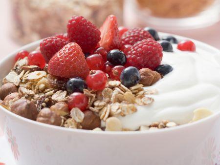 Beerenmüsli mit Joghurt