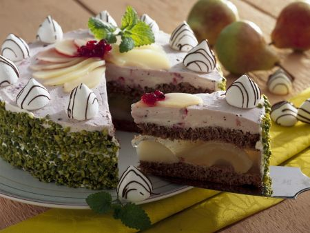 Birnen-Baiser-Torte