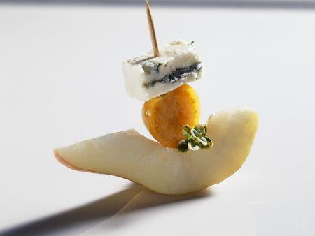 Birnen-Käse-Häppchen
