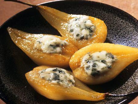 Birnen mit Roquefort