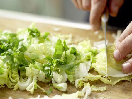 Birnen-Pizza mit Bündner Fleisch: Zubereitungsschritt 2