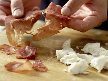 Birnen-Pizza mit Bündner Fleisch: Zubereitungsschritt 8