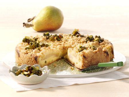 Birnen-Quark-Streuselkuchen
