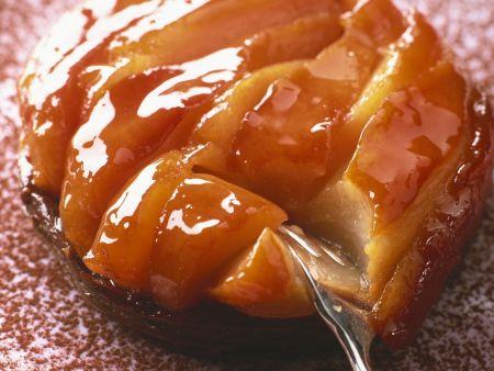 Birnen-Quitten-Kuchen mit Karamell (Tarte Tatin)