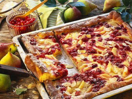 Birnenkuchen mit Cranberries