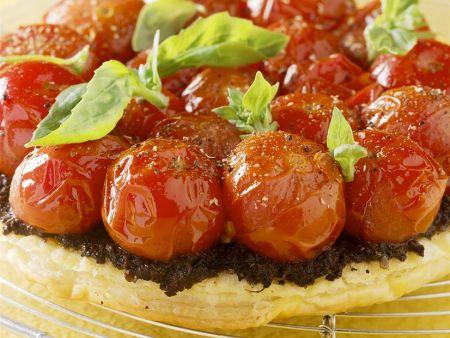 Blätterteig-Tomatentarte