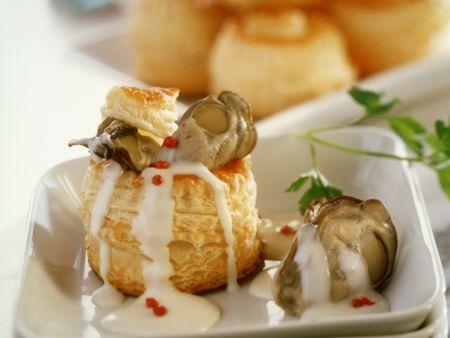 Blätterteigpastete mit Austern