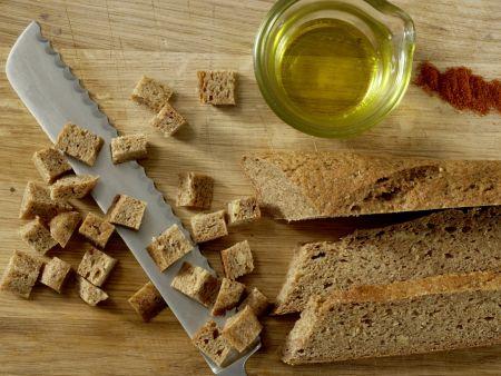 Blattsalat mit Hähnchenstreifen: Zubereitungsschritt 1