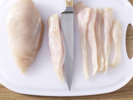 Blattsalat mit Hähnchenstreifen: Zubereitungsschritt 4