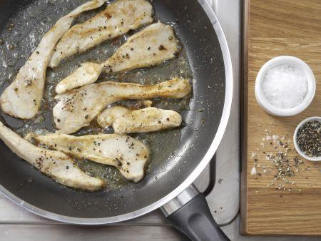 Blattsalat mit Hähnchenstreifen: Zubereitungsschritt 5