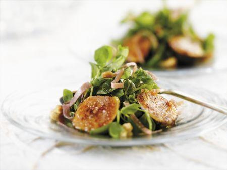Blattsalat mit Feigen