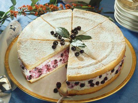 Blaubeer-Biskuit-Torte