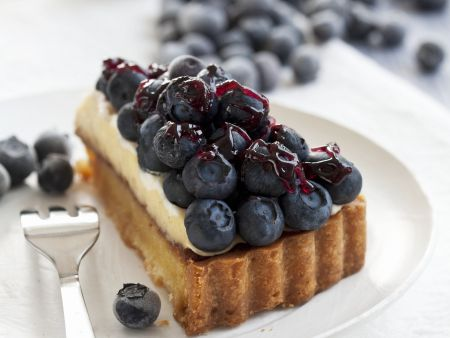 Blaubeer-Buttercreme-Tarte