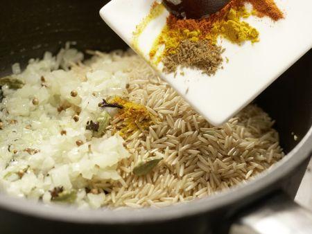 Blumenkohl-Reis-Pilaw: Zubereitungsschritt 5