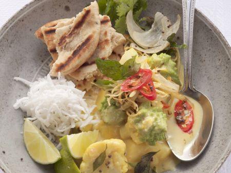Blumenkohl-Romanesco-Curry mit Kartoffeln