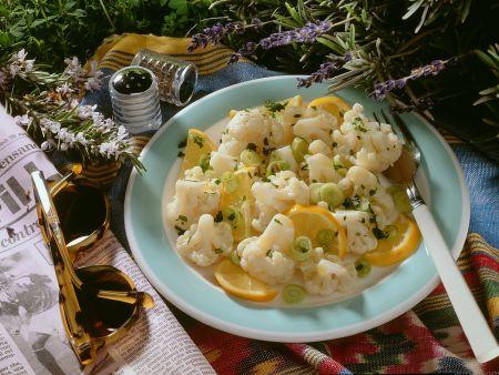 Blumenkohlsalat mit Orangendressing