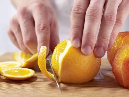 Blutorangensalat: Zubereitungsschritt 1