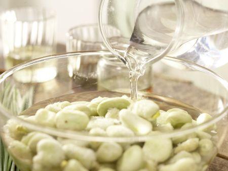 Bohnen-Birnen-Salat: Zubereitungsschritt 1